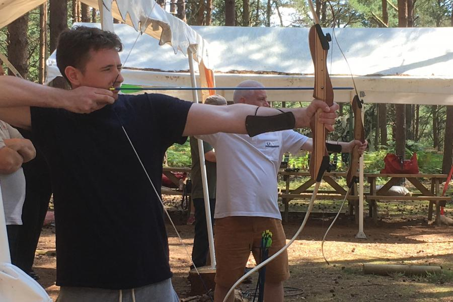 Archery, Air Rifle Shooting & Axe Throwing Combo image