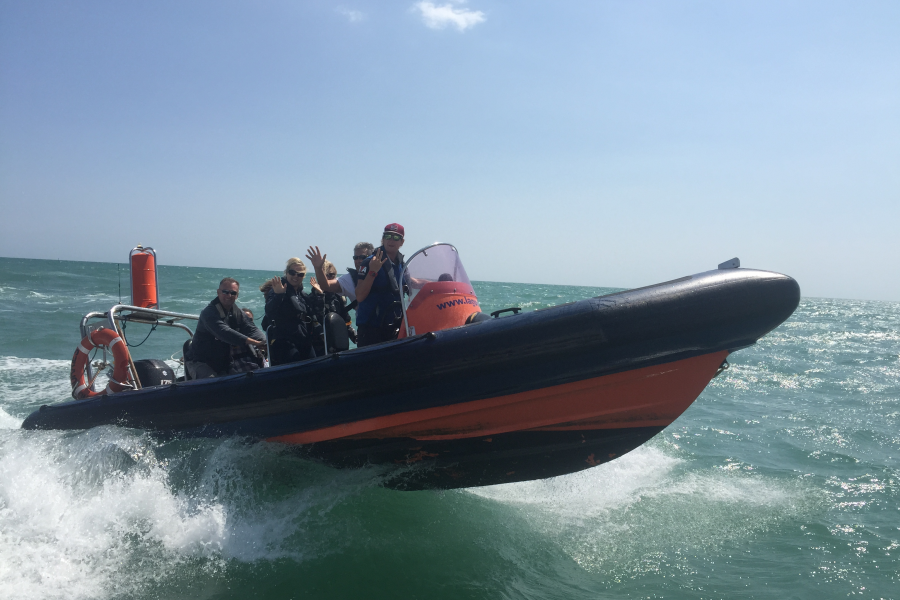 Exhilerating Powerboat Ride image