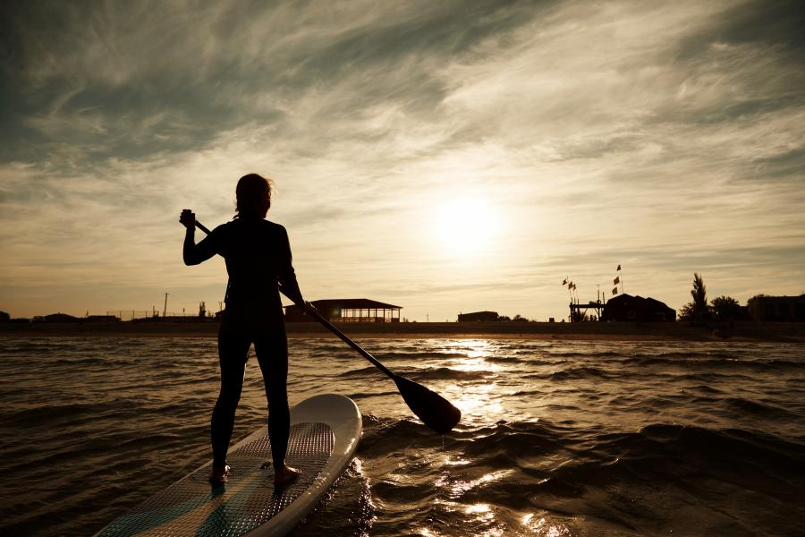 Moon Light Night Stand Up Paddleboarding (SUP) image