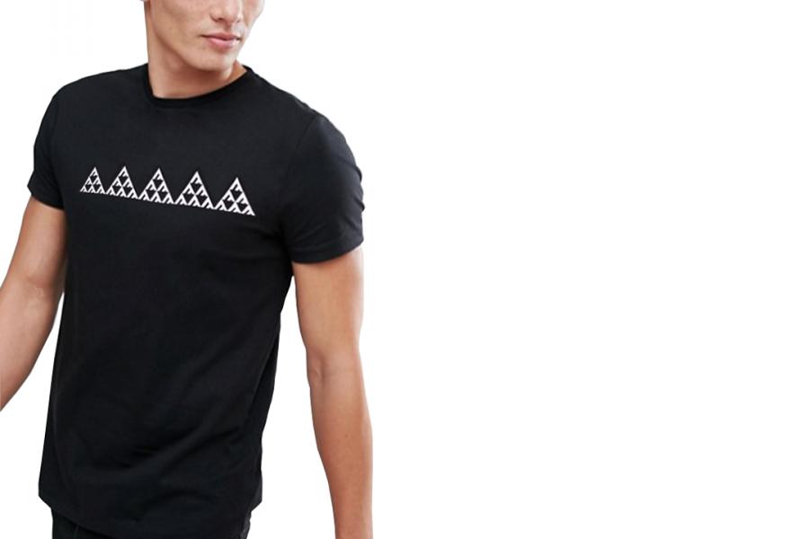 Premium Soft Cotton Black tri t-shirt image