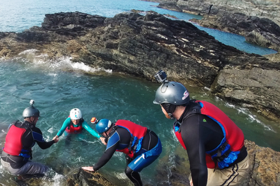Coasteering North Wales image