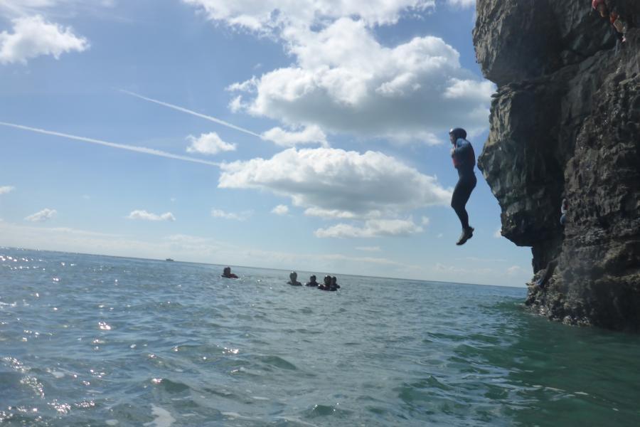 Coasteering Dorset image